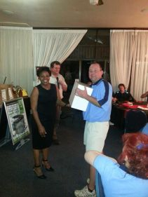 Prize giving at the Karabo Golf Day