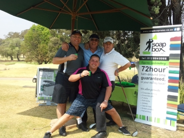 Fun on the course at the Karabo Golf Day